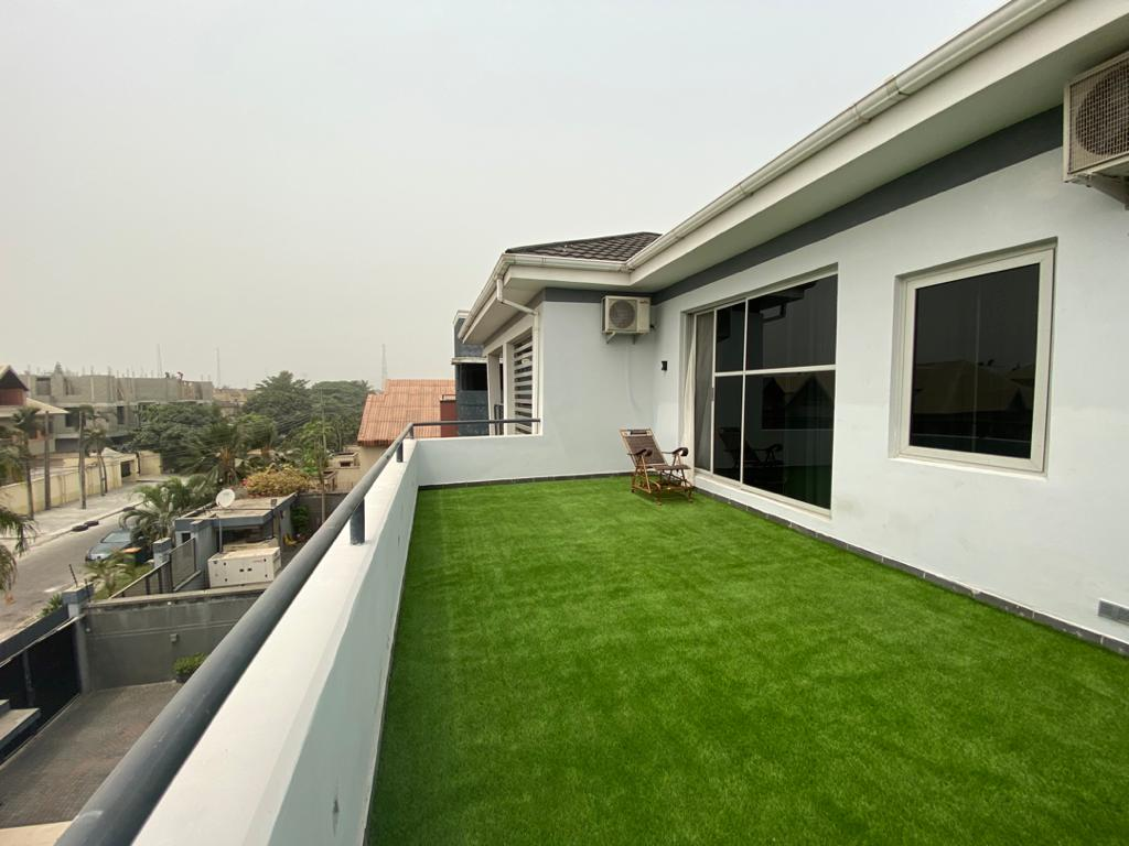 Patio at our shortlet in Lekki